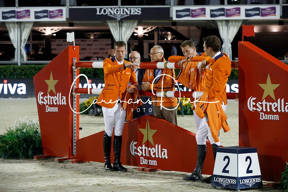Team Netherlands, Ehrens Rob, Houtzager Marc, Smolders Harrie, Hendrix Michel, NED<br /> CSIO Barcelona 2017<br /> © Hippo Foto - Dirk Caremans<br /> 30/09/2017