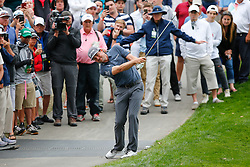 March 16, 2019 - Ponte Vedra Beach, FL, U.S. - PONTE VEDRA BEACH, FL - MARCH 16: Keegan Bradley of the United States hits off the cart path on the 14th hole during the third round of THE PLAYERS Championship on March 16, 2019 on the Stadium Course at TPC Sawgrass in Ponte Vedra Beach, Fl. (Photo by David Rosenblum/Icon Sportswire) (Credit Image: © David Rosenblum/Icon SMI via ZUMA Press)