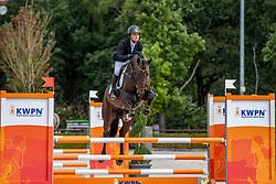 Laseur Megan, BEL, Love Connects<br /> Nationaal Kampioenschap KWPN<br /> 4 jarigen springen final<br /> Stal Tops - Valkenswaard 2020<br /> © Hippo Foto - Dirk Caremans<br /> 19/08/2020