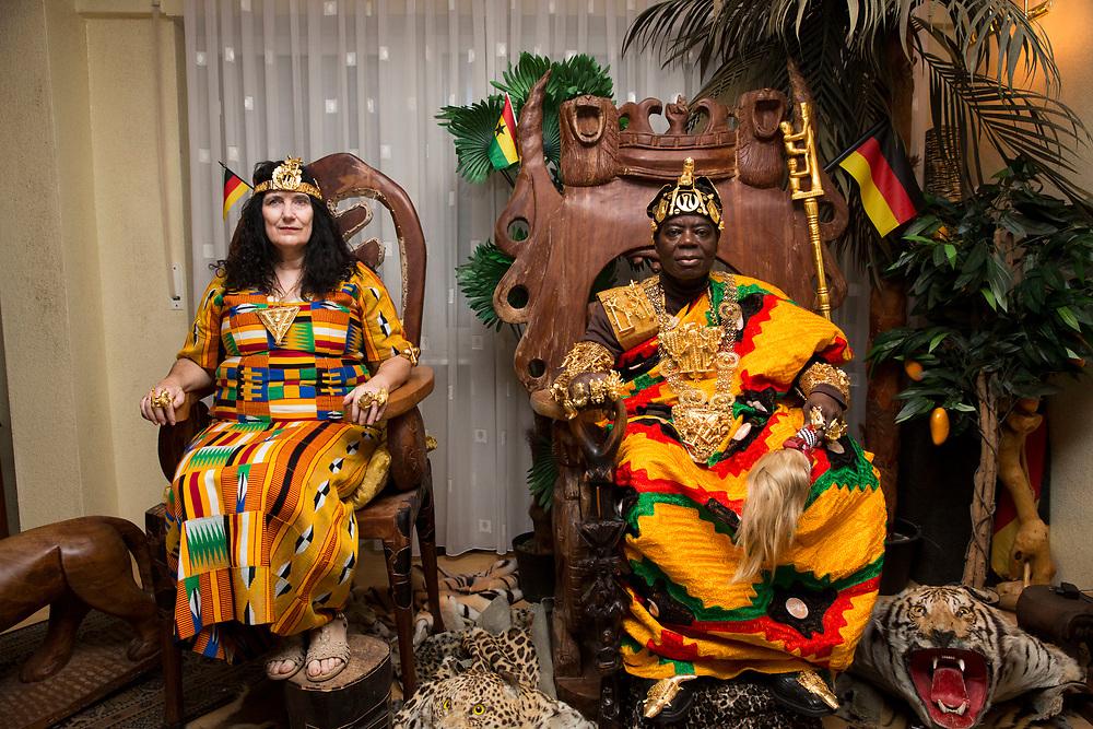 King Togbui Cephas Kosi Bansah in Ludwigshafen, Germany on November 25, 2017.