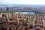 USA, NY, New York City, Aerial view of Manhattan