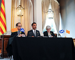 Former Catalan Minister Clara Ponsati, who is fighting extradition to Spain following the controversial Catalan independence referendum last year met with the new President of the Catalonia Quim Torra on his first visit to Scotland, where he also met with First Minister Nicola Sturgeon<br /> <br /> © Dave Johnston / EEm