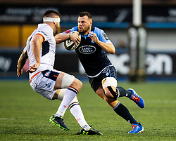 Owen Lane of Cardiff Blues <br /> <br /> Photographer Simon King/Replay Images<br /> <br /> Guinness PRO14 Round 2 - Cardiff Blues v Edinburgh - Saturday 5th October 2019 -Cardiff Arms Park - Cardiff<br /> <br /> World Copyright © Replay Images . All rights reserved. info@replayimages.co.uk - http://replayimages.co.uk