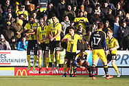 Burton defend a free kick during the EFL Sky Bet League 1 match between Burton Albion and Oxford United at the Pirelli Stadium, Burton upon Trent, England on 2 February 2019.