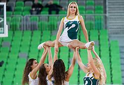 Dragon Ladies perform during basketball match between KK Union Olimpija (SLO) and BC VEF Riga (LAT) in 10th Round of Regular Season of EuroCup 2014/15, on December 17, 2014 in Arena Stozice, Ljubljana, Slovenia. Photo by Vid Ponikvar / Sportida