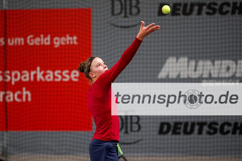 Josy Daems (GER) Deutsche Meisterschaften der Damen und Herren 2020 - Deutscher Tennis Bund e.V. am 7.12.2020 in Biberach (Bezirksstützpunk Biberach (WTB)), Deutschland, Foto: Mathias Schulz
