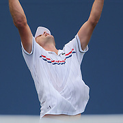 Andy Roddick, USA, in action against Fabio Fognini, Italy, during the US Open Tennis Tournament, Flushing, New York. USA. 2nd September 2012. Photo Tim Clayton
