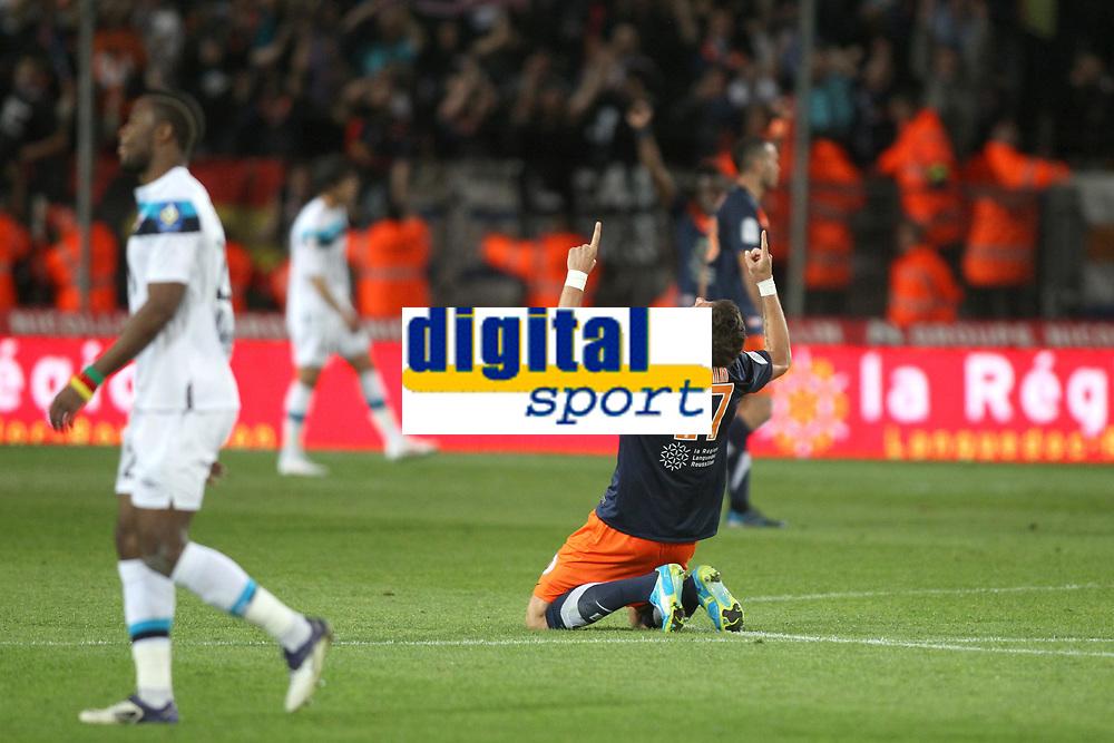 FOOTBALL - FRENCH CHAMPIONSHIP 2011/2012 - L1 - MONTPELLIER HSC v LILLE OSC - 13/05/2012 - PHOTO MANUEL BLONDEAU / DPPI - JOIE DE OLIVIER GIROUD