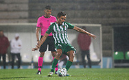 Geraldes of Rio Ave misses a penalty during the Europa League match between Rio Ave FC and AC Milan at Estadio dos Arcos, Vila do Conde, Portugal on 1 October 2020.