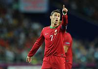 Football - European Championships 2012 - Portugal vs. Netherlands<br /> Christiano Ronaldo of Portugal at the Metalist Stadium, Kharkiv, Ukraine