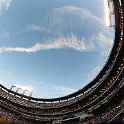 A fish eye view of Citi Field during the New York Mets Vs Arizona Diamondbacks MLB regular season baseball game at Citi Field, Queens, New York. USA. 10Th July 2015. Photo Tim Clayton
