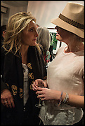 CAMILLA ALEXANDRA; HANNAH CLARKE, Mim Scala, In Motion, private view. Eleven. Eccleston st. London. 9 October 2014.