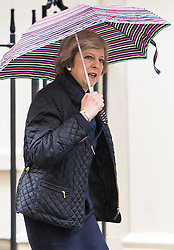 Downing Street, London, May 10th 2016. Home Secretary Theresa May arrives at the weekly cabinet meeting in Downing Street.
