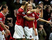 Henrik Larsson<br /> Manchester United 2006/07<br /> Manchester United V Aston Villa 07/01/07<br /> The FA Cup 3rd Round <br /> Photo Robin Parker Digitalsport
