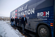 01312020 - Fort Madison, Iowa, USA: Democratic presidential candidate and former Vice President Joe Biden campaigns during an Iowa Caucus campaign event at Quality Inn & Suites, River Port Conference Center Friday, January 31, 2020 in Madison, Iowa. (Jeremy Hogan/Polaris)