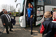 Wimbledon defender Toby Sibbick (20) during the EFL Sky Bet League 1 match between Scunthorpe United and AFC Wimbledon at Glanford Park, Scunthorpe, England on 30 March 2019.