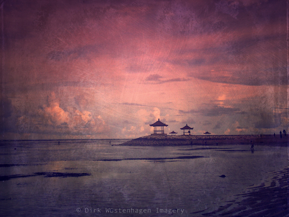 Sanur Beach, Bali, Indonesia<br /> Texturized photograph, procesed on iPhone<br /> <br /> Prints:<br /> https://crated.com/art/154800/sanur-serenity-by-dirkwustenhagen