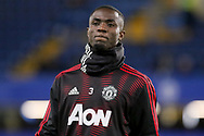 Manchester United Defender Eric Bailly warm up during the The FA Cup 5th round match between Chelsea and Manchester United at Stamford Bridge, London, England on 18 February 2019.