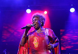 Apr 1, 2016 - Cape Town, Western Cape , South Africa - DOROTHY MASUKA performed at the 16th Annual Cape Town Jazz Festival, that took place at the Cape Town International Convention Centre. (Credit Image: © Bertram Malgas via ZUMA Wire)