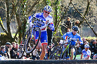 Arnold JEANNESSON - Course Elite Hommes  - 11.01.2015 - Cyclo cross - Championnats de France Femmes - Pontchateau<br /> Photo : Vincent Michel / Icon Sport