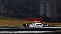 """November 10, 2018 - SãO Paulo, Brazil - SÃO PAULO, SP - 10.11.2018: GRANDE PRÊMIO DO BRASIL DE FÃ""""RMULA 1 2018 - Lewis HAMILTON, GBR, Mercedes-AMG-Petronas Formula One Team during the official qualifying training for the 2018 Formula 1 Brazilian Grand Prix, held at the Autodromo de Interlagos in São Paulo, SP. (Credit Image: © Rodolfo Buhrer/Fotoarena via ZUMA Press)"""