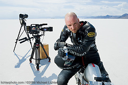 Offset. Roger Goldammer on the Bonneville Salt Flats, UT 2006<br /> <br /> Limited Edition Print from an edition of 50. Photo ©2006 Michael Lichter.