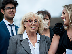 © Licensed to London News Pictures. 25/08/2015. London, UK. Actress Anna Karen attends the funeral of Stephen Lewis, who played Inspector Cyril 'Blakey' in the sitcom TV series, On The Buses. He died on Wednesday the 12th of August 2015 aged 88. The funeral was held today, the 25th August 2015 at Our Lady Of Lourdes Church in Wanstead, east London. Photo credit: Pete Maclaine/LNP
