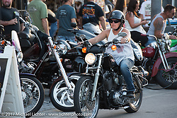 Main Street during Biketoberfest. Daytona Beach, FL, USA. Friday October 20, 2017. Photography ©2017 Michael Lichter.