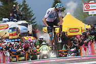 Arrival Christopher Froome (GBR - Team Sky) winner during the 101th Tour of Italy, Giro d'Italia 2018, stage 14, San Vito Al Tagliamento - Monte Zoncolan 181 km on May 19, 2018 in Italy - Photo Ilario Biondi / BettiniPhoto / ProSportsImages / DPPI