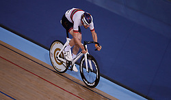 Andy Tennant during the madison time trial during Round One of the 2017/18 Revolution Series at Lee Valley Velo Park, London.
