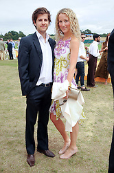 JACK & KATE FREUD at the Veuve Clicquot Gold Cup polo final held at Cowdray Park, Midhurst, West Sussex on 18th July 2010.