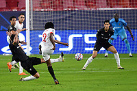 SEVILLE, SPAIN - OCTOBER 28: Jules Kounde of FC Sevilla and Clement Grenier of Stade Rennais during the UEFA Champions League Group E stage match between FC Sevilla and Stade Rennais at Estadio Ramon Sanchez-Pizjuan on October 28, 2020 in Seville, Spain. (Photo by Juan Jose Ubeda/ MB Media).