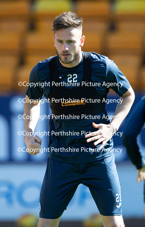 St Johnstone Training…10.05.18<br />Keith Watson pictured during training ahead of the final game of the season against Ross County<br />Picture by Graeme Hart.<br />Copyright Perthshire Picture Agency<br />Tel: 01738 623350  Mobile: 07990 594431