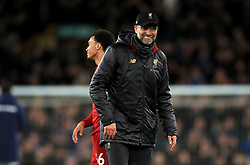 Liverpool manager Jurgen Klopp after the final whistle during the Premier League match at Goodison Park, Liverpool.