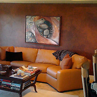 Peter and Anne K. of Naples, FL had their interior designer create a living space around a canvas gicleé of Joy for their condo that looks out over the Gulf of Mexico.