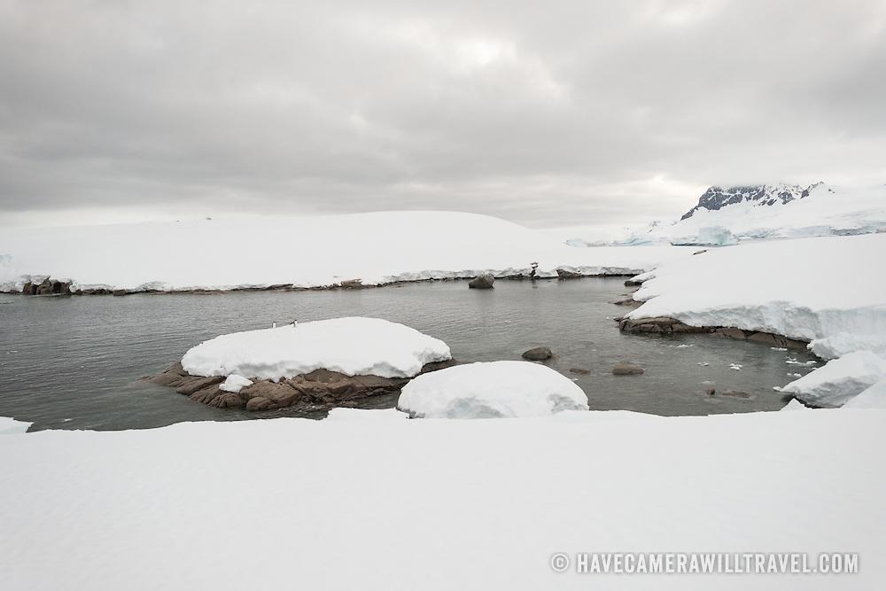 A small inlet at Hughes Bay on the Antarctic Peninsula.