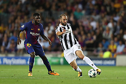 September 12, 2017 - Barcelona, Spain - Gonzalo Higuain of Juventus during the UEFA Champions League, Group D football match between FC Barcelona and Juventus FC on September 12, 2017 at Camp Nou stadium in Barcelona, Spain. (Credit Image: © Manuel Blondeau via ZUMA Wire)