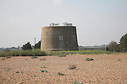 Martello tower dating from the Napoleonic wars at Shingle Street, Suffolk, England