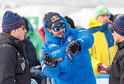 28.12.2017, Stelvio, Bormio, ITA, FIS Weltcup, Ski Alpin, Abfahrt, Herren, im Bild Dominik Paris (ITA, 1. Platz) // race winner Dominik Paris of Italy reacts after his run of the men's downhill of FIS Ski Alpine World Cup at the Stelvio course, Bormio, Italy on 2017/12/28. EXPA Pictures © 2012, PhotoCredit: EXPA/ Johann Groder