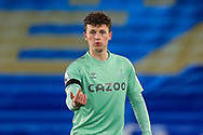 Everton forward Nathan Broadhead (34) gestures PORTRAIT during the Premier League match between Brighton and Hove Albion and Everton at the American Express Community Stadium, Brighton and Hove, England UK on 12 April 2021.