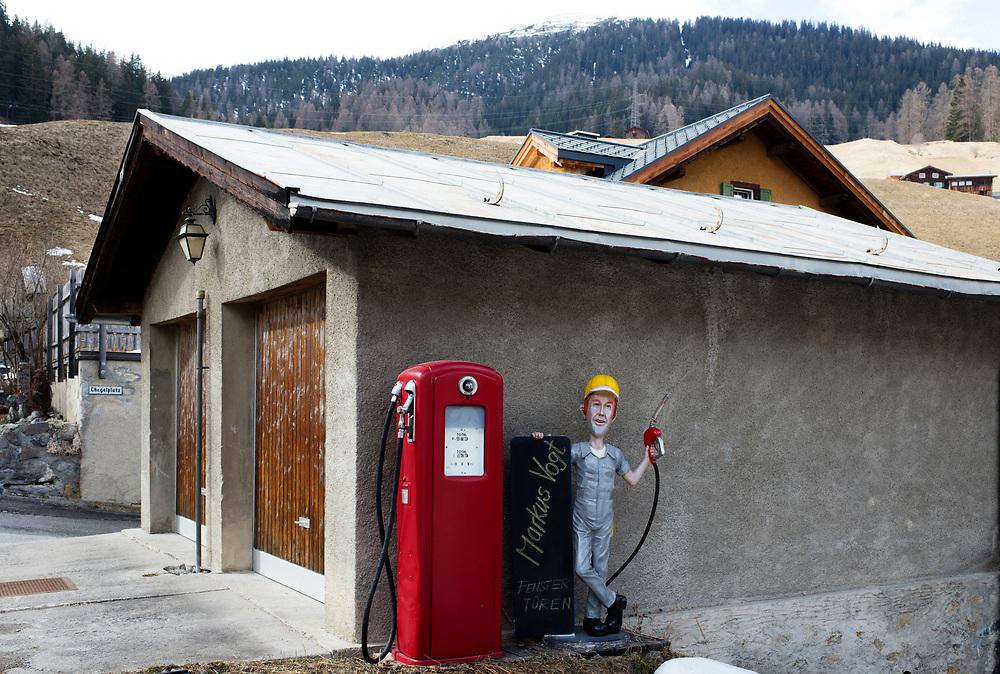 23.03.2017; Davos-Glaris; Tankstelle am Saagrain<br /> (Steffen Schmidt)