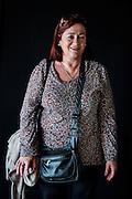 Javier Calvelo/ URUGUAY/ MONTEVIDEO/ FOTOGRAFIA/ Expoprado - Exposicion Rural del Prado de Montevideo/ Proyecto documental sobre la identidad, lo nacional, lo Uruguayo. Se trata de retratos simples mirando a camara y con un fondo neutro. Les pregunto a los fotografiados como quieren ser recordados en el futuro y de que localidad del Uruguay son.<br /> El titulo esta basado en la obra de Raymond Firth, Tipos Humanos. (Raymond William Firth, ( 1901-2002) fue un etnólogo neozelandés profesor de Antropología en la London School of Economics, es uno de los fundadores de la antropología económica británica). <br /> En la foto:  Tipos Humanos en Expoprado, Elma Caraballo, Empalme Olmos. Foto: Javier Calvelo <br /> 2013-09-09 dia lunes