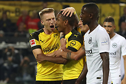 DORTMUND, Sept. 15, 2018  Diallo of Borussia Dortmund celebrates after scoring during the Bundesliga match between Borussia Dortmund and Eintracht Frankfurt at Signal Iduna Park in Dortmund, Germany, on Sept. 14, 2018. Dortmund won 3-1. (Credit Image: © Joachim Bywaletz/Xinhua via ZUMA Wire)