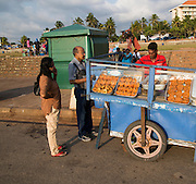 Street stalls on seafront at Galle Face Green, Colombo, Sri Lanka, Asia