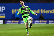 Forest Green Rovers Nathan McGinley(19) passes the ball forward during the The FA Cup 1st round match between Oxford United and Forest Green Rovers at the Kassam Stadium, Oxford, England on 10 November 2018.