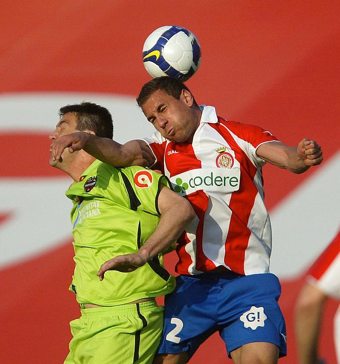 2009. March, 15th. Partido de segunda división A disputado entre el Girona F.C. como equipo local y el Levante..COPYRIGHT: TONI VILCHES FOTOGRAFIA.