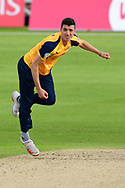 Matthew Fisher of Yorkshire during the Vitality T20 Blast North Group match between Nottinghamshire County Cricket Club and Yorkshire County Cricket Club at Trent Bridge, Nottingham, United Kingdon on 31 August 2020.