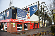 The County ground exterior during the The FA Cup 2nd round match between Swindon Town and Woking at the County Ground, Swindon, England on 2 December 2018.