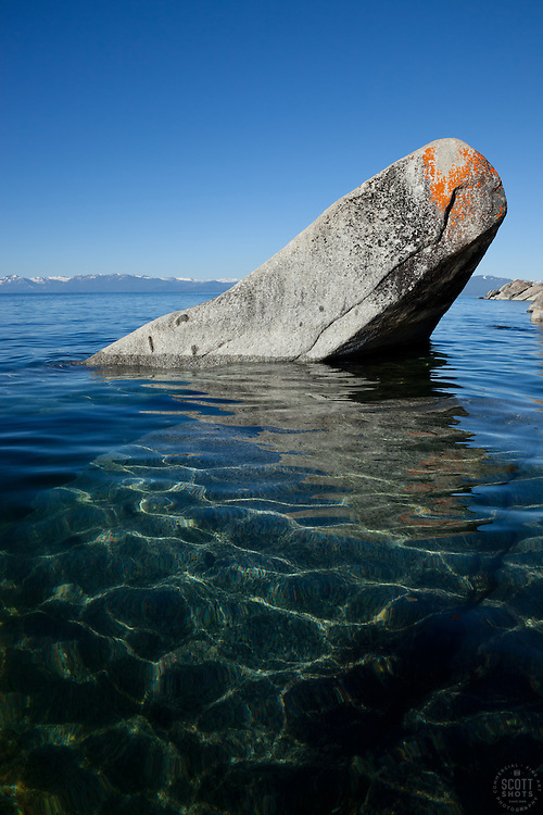 """""""Boulders on Lake Tahoe 24"""" - These boulders were photographed in the morning near Speedboat Beach, Lake Tahoe."""