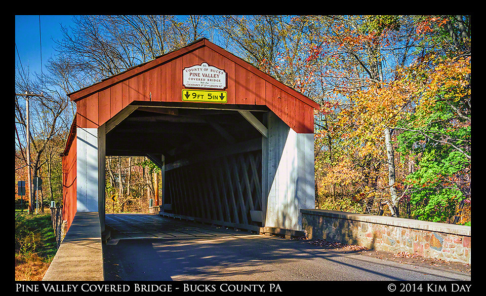 Pine Valley Covered Bridge<br /> New Britian, PA<br /> October 2014